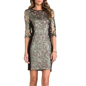 NWT Greylin trixie Black Sequined Dress M